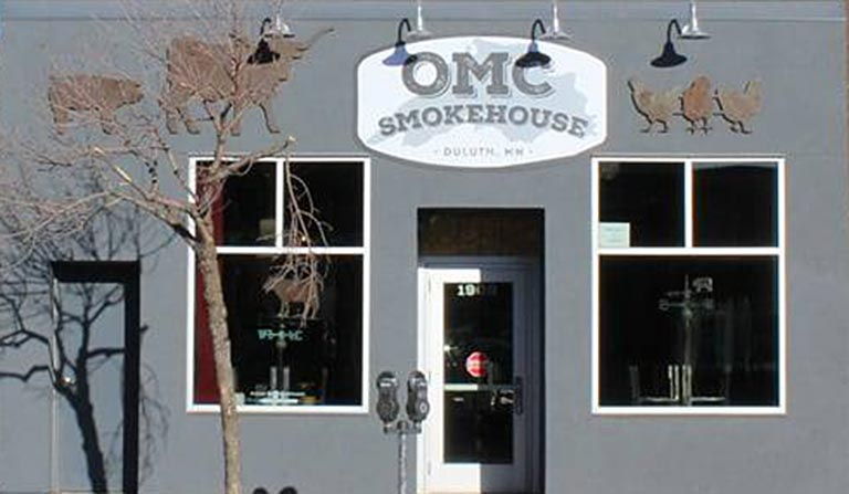 Storefront of OMC Smokehouse